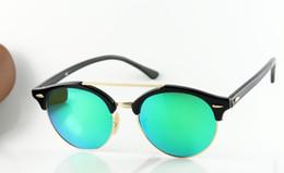 Wholesale Newest Brand Sunglasses - 2017 Newest Sunglasses Clubround Brand Designer Polarized Sunglasses soscar 4346 Authentic Sun Glasses Double Bridge Sunglass for Men Women
