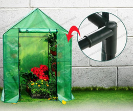 Wholesale Greenhouses Free Shipping - 2017 NEW 8 Shelves Greenhouse Portable Mini Walk In Outdoor Green House 2 Tier New FREE SHIPPING MYY