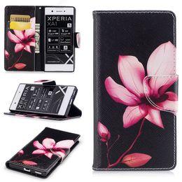 10 UNIDS Magnetic BookCover para Sony Xperia XA1 Ultra Sony Z6 3D lindo panda de dibujos animados caso Flip Wallet para Sony XZ XZS envío gratis desde fabricantes