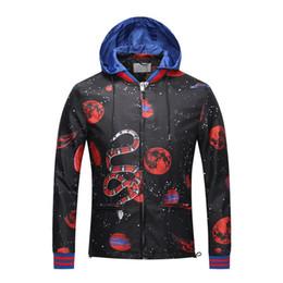Wholesale Motorcycle Hooded Sweatshirts - New Clothing Cotton Sweatshirts Hoodies Jackets Coats Motorcycle Autumn Casual Long Sleeve Zipper 3D Animal Print Outerwear