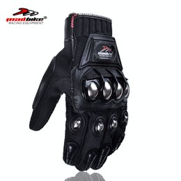 Wholesale Gears Parts - Wholesale- Motorcycles full finger men Motocycle Gloves Accessories & Parts Protective Gears gloves for motorcyclists steel alloy protect