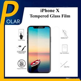 Wholesale Tempered Glass Factory - Factory Sale Cell Phone Screen Protectors For iPhone X 2.5D Arc Edge HD Front Tempered Glass Film With Retail Box