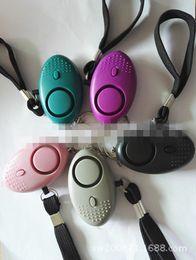 Wholesale Safety Alarms - LED anti wolf alarm personal burglar alarm car key anti dropping device female personal safety alarm