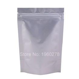 "Wholesale Pure Silk Stockings - 8x12cm (3x4.75"") Heat seal foil bag Silver thick stand up pure aluminium ziplock bag tea food storage 100pcs lot"