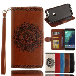 Wholesale Wallet Xl - Mandala Flower Wallet Leather Pouch Case For Google Pixel XL Galaxy J710 J7 Prime MOTO G4 Plus Huawei Mate 9 Redmi Note3 Sony Xperia XZ 1pcs
