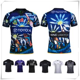 Wholesale New England Football Jersey - (With Logo & Name) 2016 AIG NRL Super New Zealand Indigenous Rugby Jersey All Blacks England Football Shirt Teams Sport New Free Shipping