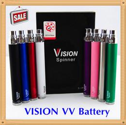 Wholesale Ego C Pack - Retail Pack Vision Spinner battery ego c twist 3.3-4.8V Variable Voltage VV 510 Thread battery 650 900 1100 1300mAh vision spinners battery