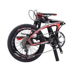 Wholesale Disc System - SAVA 20 inch Folding Bike T700 Carbon Fiber Frame Ultralight SHIAMNO 20 Speeds 3000 Derailleur System Mini Compact City Tour Bike Disc Brake