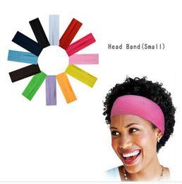 Wholesale Green Black Wigs - Hair Accessories Women Wide Yoga Headband Stretch Hairband Elastic Hair Band Head Wrap Turban 2017 New