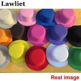 Wholesale Craft Woman - Women Mini Top Hat Children Fascinator Hats Eva Boy Girl Wedding Hen Party Festival Dance Hat With Clip Diy Craft Hat Base 10Pcs