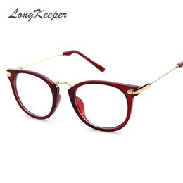 Wholesale Grade Spectacle Frame - Wholesale- 2017 Round Spectacle Frame for Female Grade Computer Glasses Fashion Reading Cat Eye Glasses Women Optical Prescription Eyewear