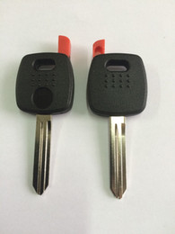 Wholesale Transponder Key Cover - KL43 Transponder Key Shell For Nissan Key Fob Cover Uncut Blade Replacement Key Shell For Nissan NO LOGO