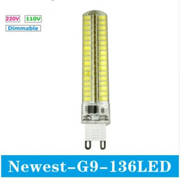 Wholesale Halogen Lighting Products - Newest product G9 LED Bulb SMD 5730 mini G9 LED lamp 220V 110V 136LED Chandelier Replace Halogen light dimmable lamp bulb
