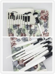 Wholesale Hair Items - Hot Item Makeup Brushes Set 12pcs with Goat Hair Cosmetic Foundation Eye Shadow Blusher Brush with Wood Handle Free Shipping