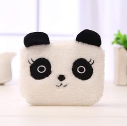 Wholesale Kawaii Panda Plush - Wholesale- Kawaii NEW Fluffy Panda Coin BAG Purse , 11CM Plush Keychain Coin BAG Wallet Pouch ; Hand Pocket Coin BAG Wallet Purse