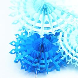 "Wholesale wholesale paper snowflake decorations - Wholesale-Free Shipping 20pcs Lot 8""(20cm) Snowflake Paper Fan Wholesale Retai Tissue Paper Fan Crafts Party Wedding Home Decorations"