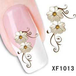 Wholesale Top Nail Water Decals - Top Sell Flower Butterfly Water Transfer Sticker Nail Art Decals Nails Wraps Temporary Tattoos Watermark Nail Tools