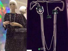Wholesale Girls Birthday Sweater - 2017 new tassel Shield necklaces women rhinestone Necklace fashion chain Sweater chain Christmas birthday gift!