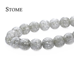 Wholesale Round Gemstone Beads 14mm - 6-14MM Natural Gray Popcorn Crystal Round Loose Beads Gemstone For Jewelry Making S-158 Stome