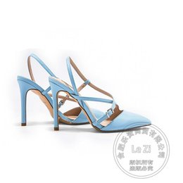 Wholesale White Shine Wedding Shoes - Microfiber Commuter Buckle Prom Leisure Work Shoe Stiletto Heels Champagne High Heels Gold Patent Leather Slingbacks Shine Pumps