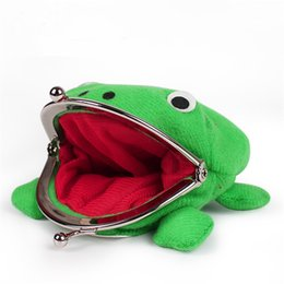 Wholesale Naruto Frog Plush - 2017 Naruto Cute Frog Wallets Children Kids Frogs Plush Coin Zero Purse Manga Uzumaki Flannel Wallet Pouch Handbag Cosplay Purses DHL Free