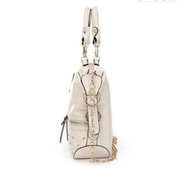 09f22a21b Al por mayor-Kim kardashian kollection kk Bolsa de hombro Diseñador Marca  Bolsos Bolsos Mujeres Remache Moda Bucket Cadena de oro Bolsas de mensajero