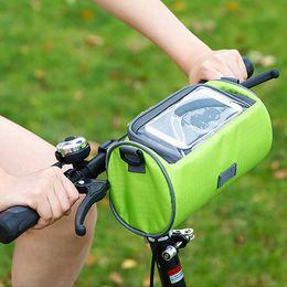 Wholesale Touch Shoulder Bags - Tourbon Water Resistant Bike Cycling Front Handle Pannier Bag Removable Shoulder Strap Bicycle Handlebar Pouch Cellphone Touch Case