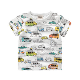 Wholesale Little Boy Wholesale Clothes - 2-8Y Boys T shirt Clothes Cartoon Cars Printed Kids T-shirt 2017 Summer Little Boy Shirts Children Clothing Tshirt Tops
