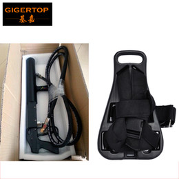 Wholesale guns co2 - Freeshipping TP-T03 CO2 Gas Tank Belt with Co2 DJ Gun Blaster High Quality Mini Size Tank Back Pack with Shoulders Straps Nylon Buckle