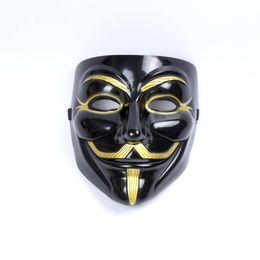 Wholesale Masquerade Masks Guys - 1Pcs V for Vendetta Mask Anonymous Guy Halloween Mask Masquerade Mask Adult Party Masks Mascara de Halloween