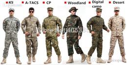 Wholesale Paintball Bdu - Camouflage Military Tactical Airsoft Paintball War Game BDU Clothes Combat Uniform Shirt & Pants Multicam Suits