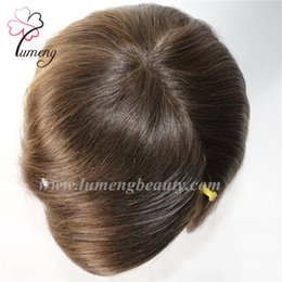 Wholesale Men Hair Wig Styles - Wholesale 100% Indian Remy human hair free style Finest Swiss lace with PU around back and sides men Q6 toupee