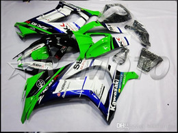 Wholesale Kawasaki Ninja Fairings For Sale - 3 Gifts Christmas ABS Injection Mold Fairings Kit For kawasaki Ninja ZX10R 10r 2011 2012 2013 2014 11 12 13 14 Bodywork green blue hot sale