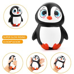 Wholesale Wholesale Dolls Toys - New Arrival Jumbo Squishy Cute Penguin Kawaii Animal Slow Rising Sweet Scented Vent Charms Bread Cake Kid Toy Doll Gift Fun