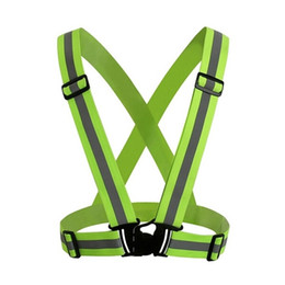 Wholesale Fluorescent Vests - Wholesale-360 Degrees Vest Working Warning Harness Outdoor Sports Cycling Riding Racing Fluorescent Tops Safety Reflective Strips Jacket