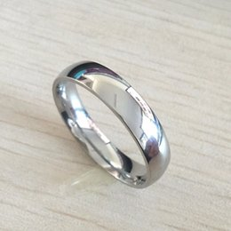 Wholesale Titanium Tungsten Heart Jewelry - Classic male Real 18k white Gold Plated 6mm Titanium Steel Women Men Wedding Ring Top Quality Do not fade Lovers Wedding Jewelry
