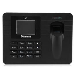 Wholesale Usb Fingerprint Attendance - Original DANMINI A5 2.4 inch TFT Fingerprint Time Clock Recorder Attendance Support USB Download for Company School