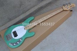 Wholesale Bass Guitar Stingray - wholesale Musical Instruments 4 strings bass music man stingRay electric bass guitar with 9V Battery initiative to pickups hott3