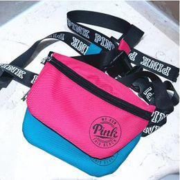 Wholesale Multifunction Travelling Bag - 21*13cm Top Quality Nylon Travel Bags Handbags Bags Pink Beach Waist Bag Women VS Multifunction Purses Secret Waist Bag CCA6639 20pcs