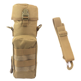 Wholesale Molle Utility Shoulder - Molle EDC Utility Tactical Shoulder Bag Gear Water Bottle Pouch Kettle Waist Back Pack For Army Fans