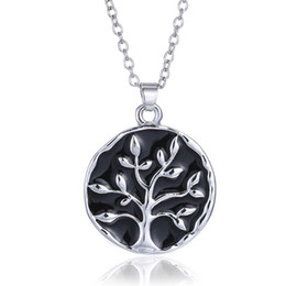 Wholesale Engraved Design - Fancy Necklace Design Tree Of Life Pendant Friend Necklaces Engraving Antique Letter Design Used As Gift