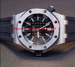 Relógio offshore automático on-line-Qualidade superior pulseira de borracha offshore mergulhador relógio dos homens automáticos relógio dos homens