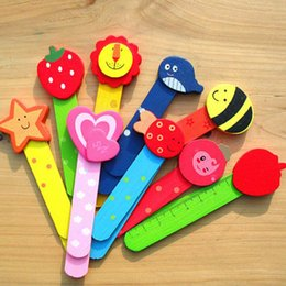 Wholesale New Stationery For School - 5pcs lot New Stationery Wooden Cartoon Bookmarks Scale Child Wood Bookmark Colorful Cute for Children Student Gift Prize School Office Suppl