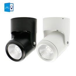 Wholesale Led Downlights 7w - Wholesale- Surface Mounted COB LED Downlights 7W 10W 15W 20W LED Ceiling Lamps Spot Light adjustable Downlight + AC110 220V LED Driver