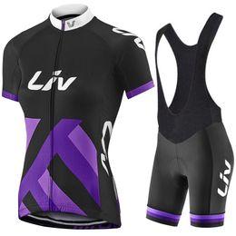 Wholesale Bib Shorts Cycling Jersey Woman - 2017 Liv Team Women's Cycling Jerseys Set, Summer Cycling Clothing Womens Bicycle Clothing Bike Clothes Bike Jersey+ Bib Shorts. 2 Colors !