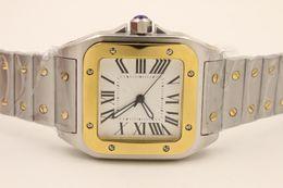 новый роскошный кварцевый двухцветный 100 XL нержавеющая сталь сапфир мода сапфир качество большой циферблат Сапфир мужчины смотреть бесплатная доставка supplier xl watches men от Поставщики xl наблюдает за мужчинами