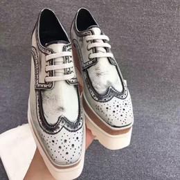 Wholesale Boot Shoe Brush - Brand Shoes Stella Britt Boot Elyse Brushed Star Shoes Platform Derbys Wedge Lace-up Flat Stella Shoes