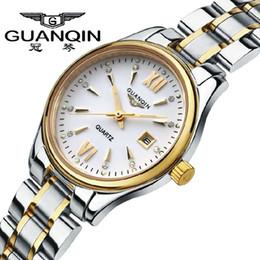 Wholesale Guanqin Watch Ladies - 2016 GUANQIN Fashion Watch Women Top Brand Luxury Quartz Watches Women Dress relogio feminino Waterproof Ladies Gold Wristwatch