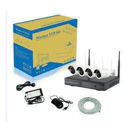 Wholesale Ccd Bullet Cameras - Best quality 12V rmon 2.4 ghz 4ch wifi surveillance p2p ip ccd camera kits with cctv wireless nvr kit