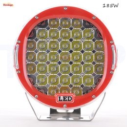 """Wholesale Led Atv Headlight - Super Bright 9"""" Inch 185W Red Black Blue Yellow LED Headlight For Offroad F150 Cruiser Jeep ATV 4*4 Offroad Boat"""